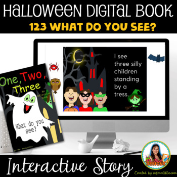 One, Two, Three What do you See? Halloween Adjective Book
