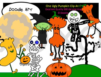 One Ugly Pumpkin Clipart Pack