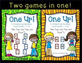 One Up! ~ Card Game Comparing More than, Less than, & Equal to