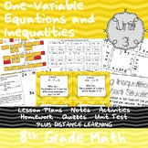 One-Variable Equations and Inequalities - (8th Grade Math TEKS 8.8A-C&8.12A-B,D)