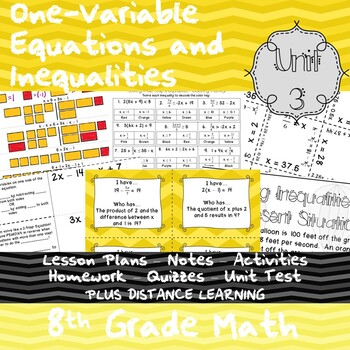 One-Variable Equations and Inequalities - (8th Grade Math