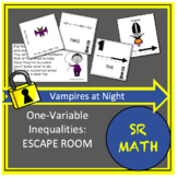 One Variable Inequalities Escape Room Vampires at Night