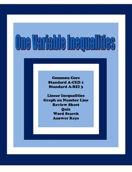 One Variable Inequality Equations