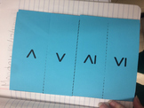 One-Variable Inequality Foldable - Vocabulary