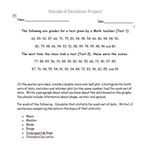 One Variable Statistics Project