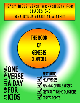 One Verse A Day for Kids - Genesis 1:3
