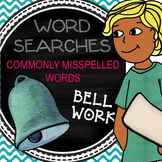 "Bell Work for a Week - Word Search ""Commonly Misspelled Wo"