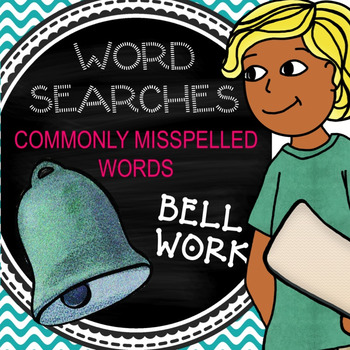 """Bell Work for a Week - Word Search """"Commonly Misspelled Wo"""