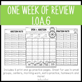 One Week of Review {1.OA.6}