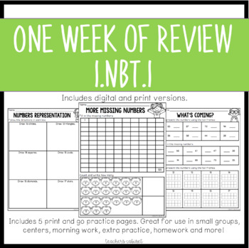 One Week of Review {1.NBT.1}