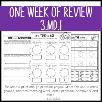 One Week of Review {3.MD.1}
