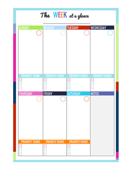 One Week on a Page - Planner Page