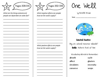 One Well Trifold - Wonders 5th Grade Unit 4 Week 4