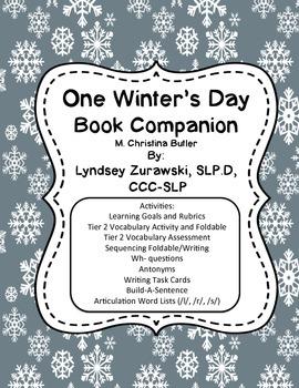 One Winter's Day Book Companion