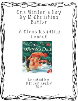 Close Read- One Winter's Day