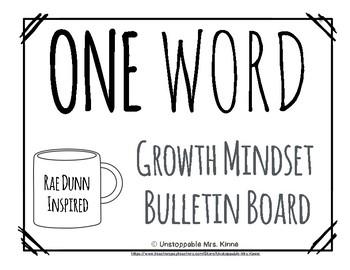 One Word: A Rae Dunn Inspired Growth Mindset Bulletin Board