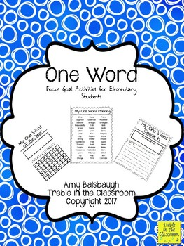 One Word Goals for Elementary Students