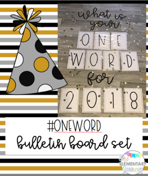 One Word New Year Bulletin Board Template