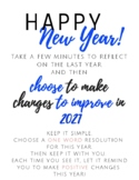 One Word New Year Resolutions (Bulletin Board or Class Activity)