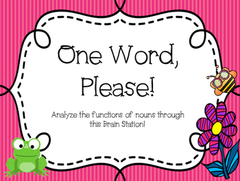 One Word, Please!