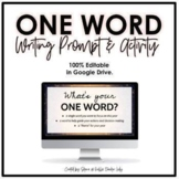 One Word Project - New Year's Resolution Activity | Editab