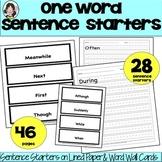 One Word Sentence Starters