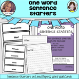 One Word Sentence Starters