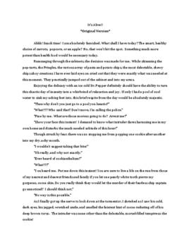 Creative Writing- One Word Stories