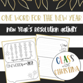 One Word for the New Year