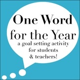 One Word for the Year | An Editable Back to School Goal Setting Activity