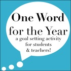 One Word for the Year {A Goal Setting Activity for Student