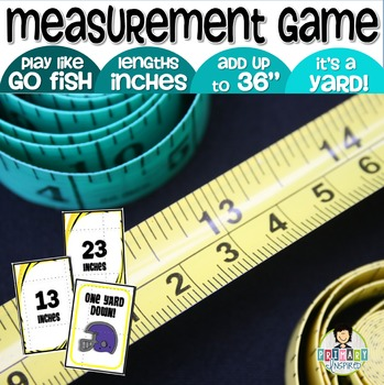One Yard Down! Measurement Game ~Add Inches Up to a Yard~