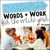 One Year of Middle School Vocabulary Words & Word Work | G