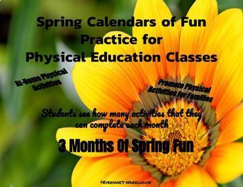 A Year of P.E. Fun--Activity Calendars
