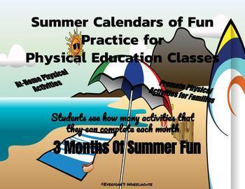 A Year of P.E. Fun--Activity Calendars Bundle