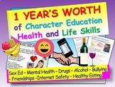 One Year's Character Education / Health / Life Skills Bundle