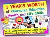 One Year's Character Education / Health / Life Skills Bundle