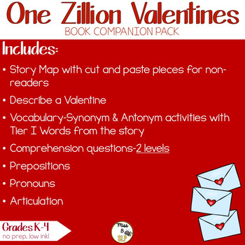 One Zillion Valentines-Book Companion Pack