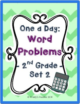 One a Day: Word Problems for 2nd Grade (Set 2 - Common Core)