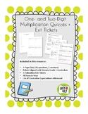 Grade 4 Multiplication Quiz and Exit Ticket Assessment Bundle