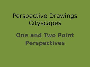 One and Two Point Cityscape Perspective Drawings