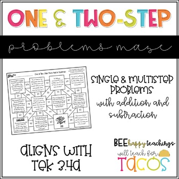 One and Two Step Addition and Subtraction Maze 3.4A