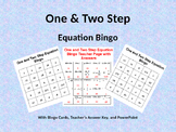 One and Two Step Equation Bingo with Bingo Cards and PowerPoint
