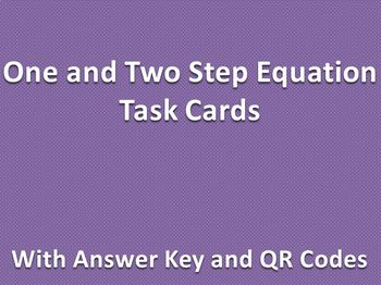 One and Two Step Equation Task Cards