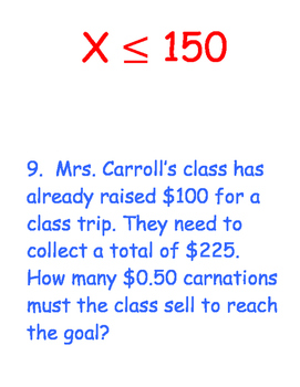 One and Two-Step Equation and Inequality Scavenger Hunt