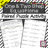 One and Two Step Equations Activity