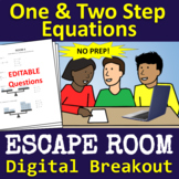 Math: One and Two Step Equations ESCAPE ROOM - Digital Breakout - NO PREP!
