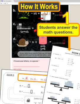 Math: One and Two Step Equations ESCAPE ROOM - Digital ...