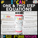 8th Grade One and Two Step Equations Game