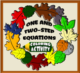 One and Two-Step Equations Fall Coloring Activity